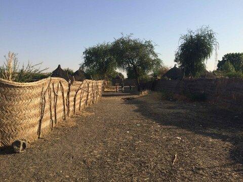 Compound walls in Sudan. Credit Vanessa Yardley.