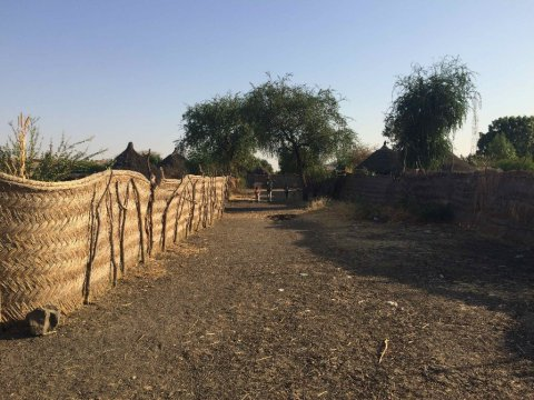 Compound walls in Sudan. Credit Vanessa Yardley.