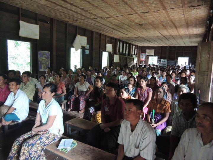 Community health education session in a village - Ayeyarwady region, Myanmar