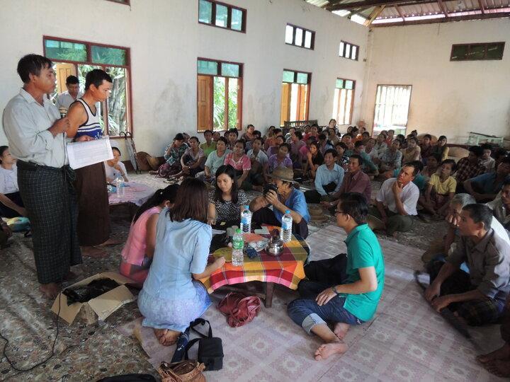 Community sensitisation - Ayeyarwady region, Myanmar