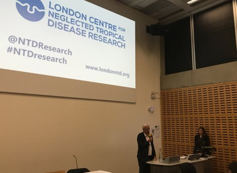 Prof Sir Roy Anderson opening the LCNTDR anniversary event