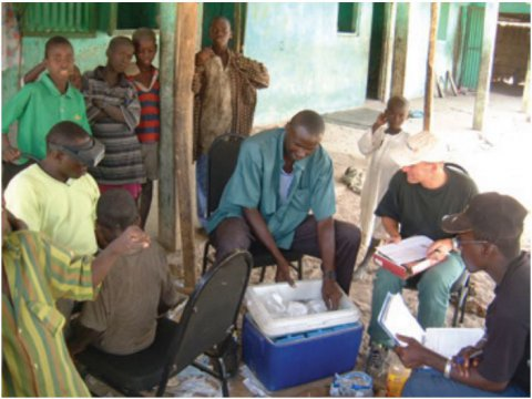 Trachoma clinical examination, sample collection and data collection in The Gambia.