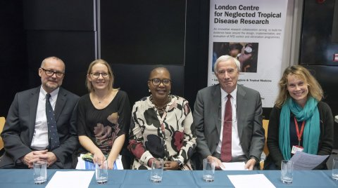 Research collaboration - Dr Tim Littlewood (NHM), Dr Rachel Pullan (LSHTM), Dr Mwele Malecela (WHO), Prof Sir Roy Anderson (Imperial), Prof Joanne Webster (RVC).