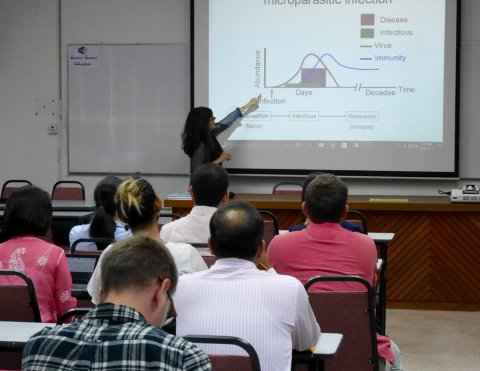 Maria-Gloria Basáñez lecturing at Imperial College London
