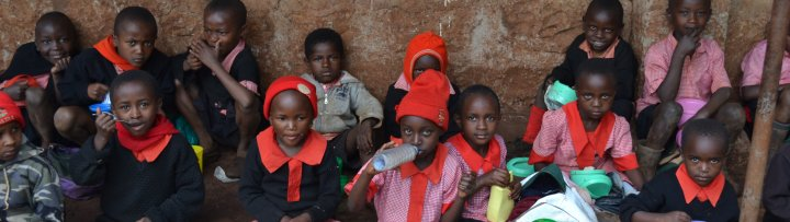 Lunchtime in an Kenyan School